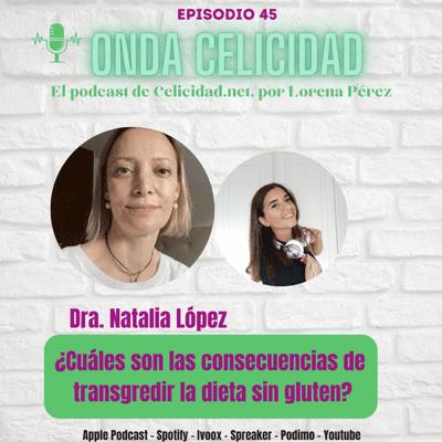 Onda Celicidad - OCO45- ¿Cuáles son las consecuencias de transgredir la Dieta Sin Gluten? Con la Dra. Natalia López